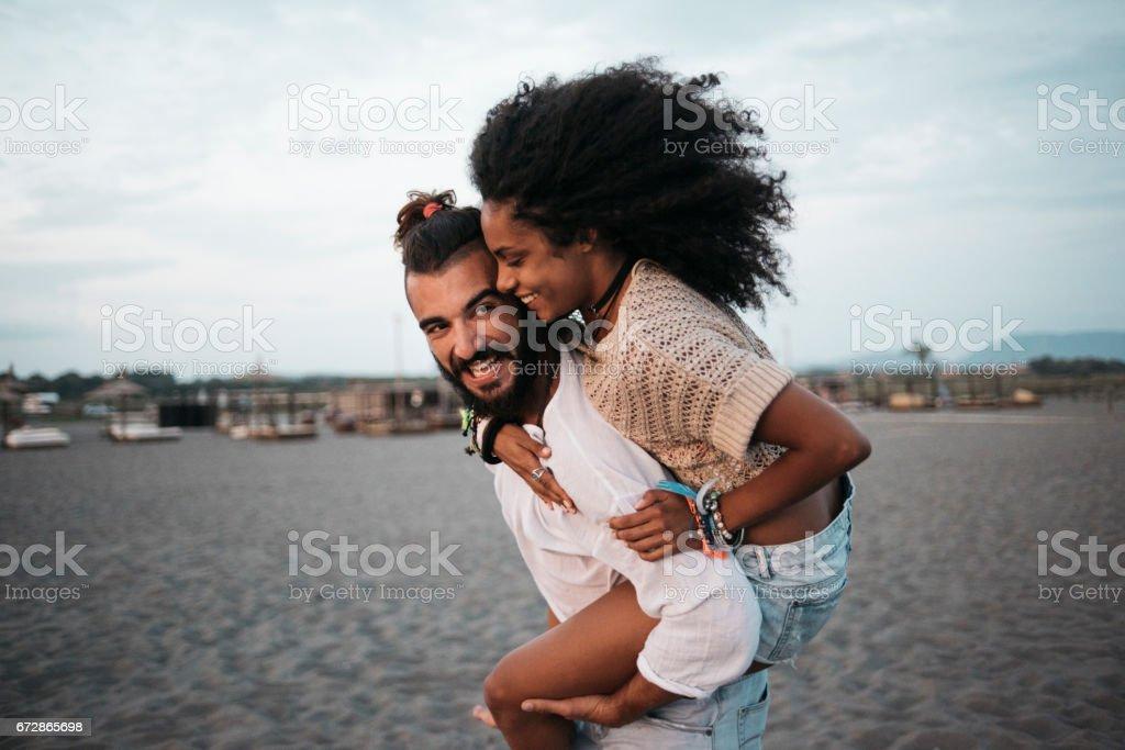 Carry me baby stock photo