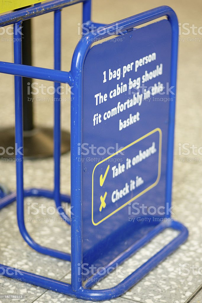 Carry on luggage check area royalty-free stock photo