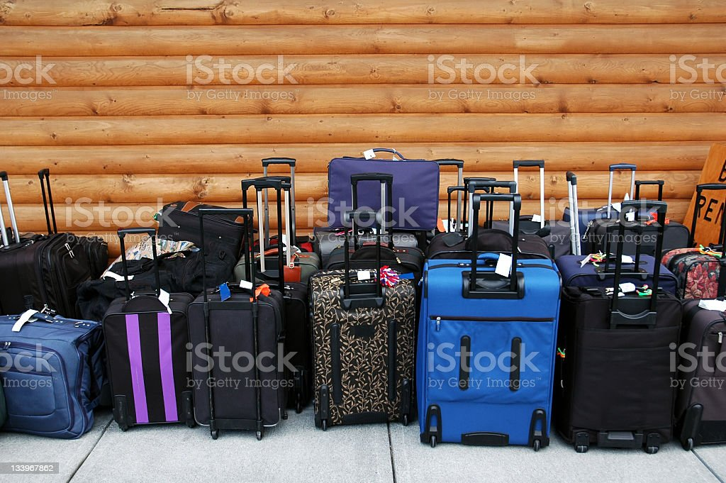 Carry- on luggage stock photo