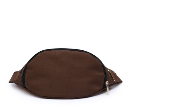carry waist bag isolated on white background. copy space, template. - waist bag stock photos and pictures