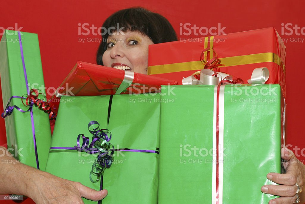 Carrying gifts royalty-free stock photo