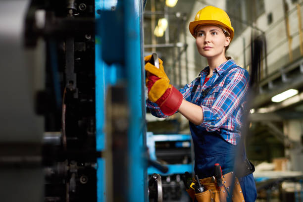 carrying out inspection at plant - manufacturing occupation stock photos and pictures
