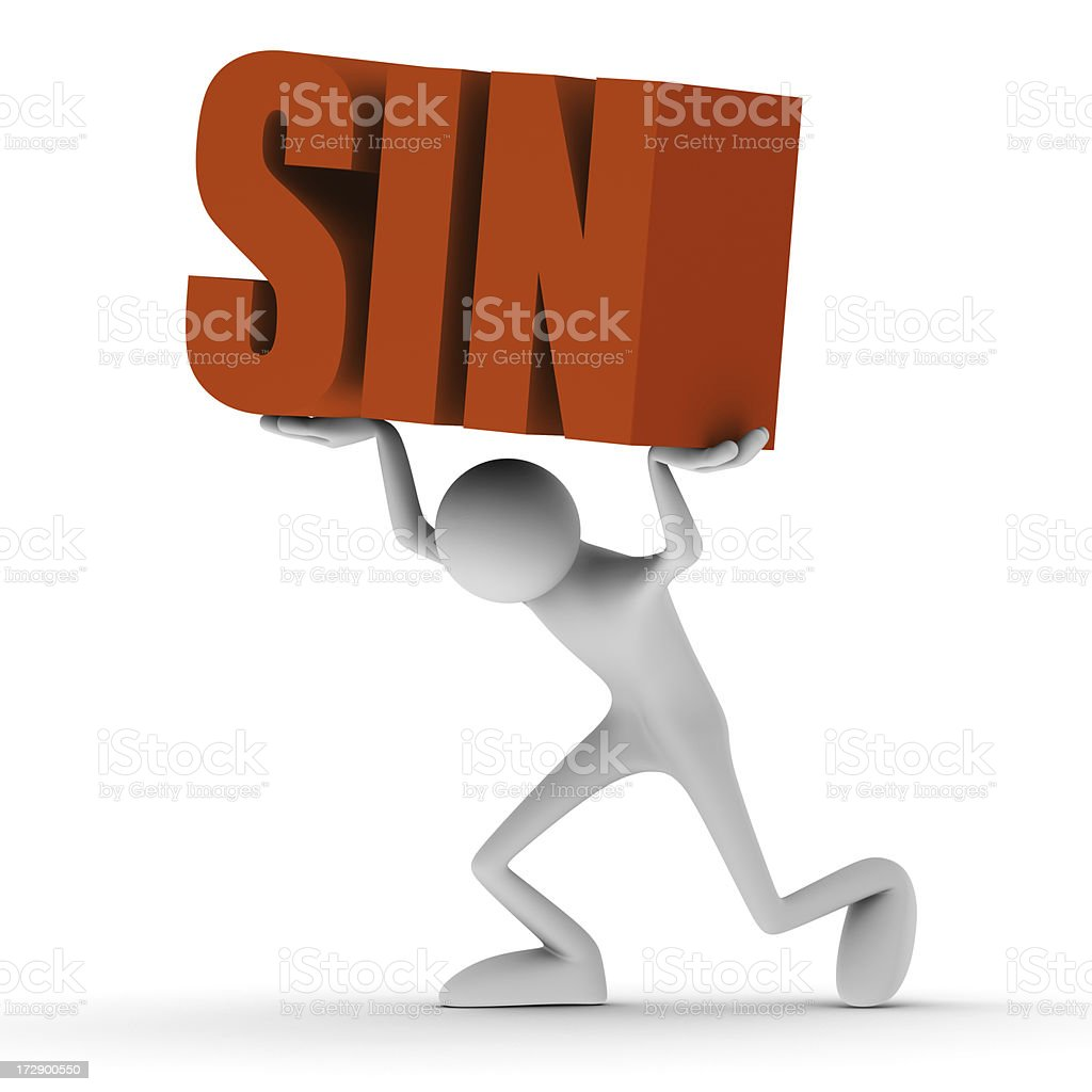 Carrying sin royalty-free stock photo