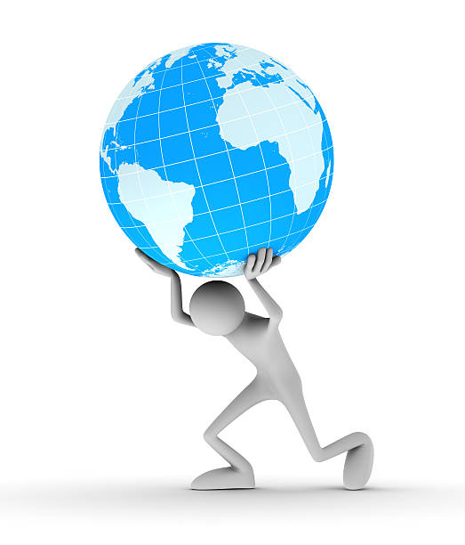 royalty free physical pressure carrying earth globe pictures images