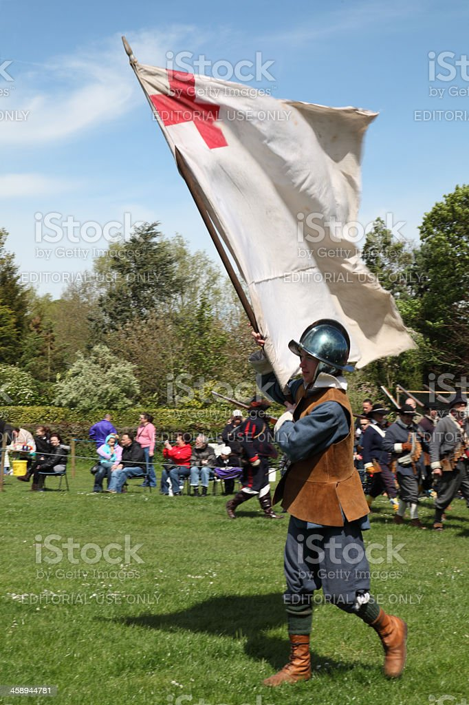 Carrying the flag royalty-free stock photo