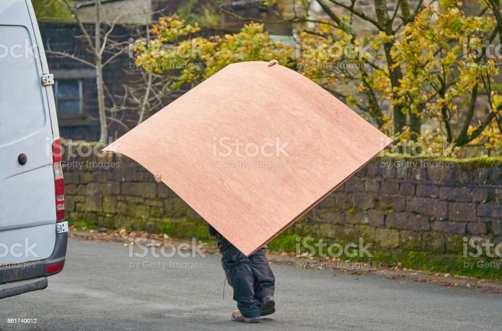 Carrying Wood stock photo