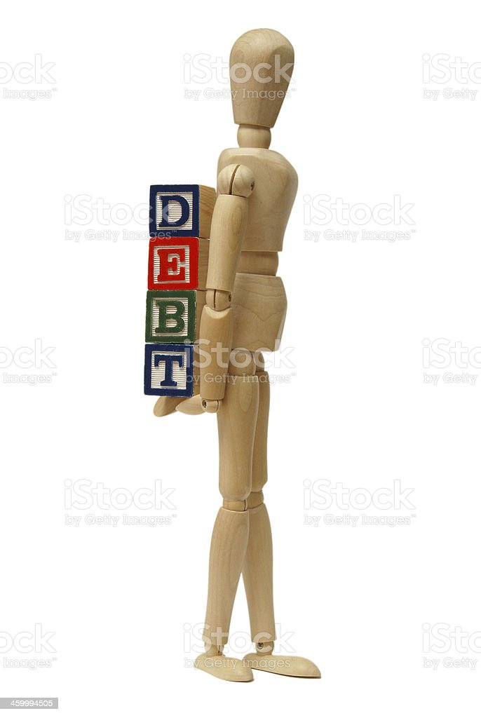 Carrying Your Debts royalty-free stock photo