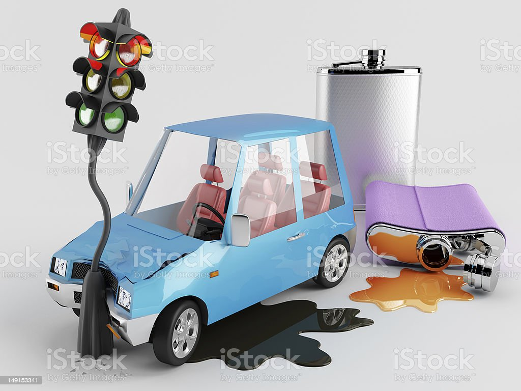 Cars and Alcohol stock photo