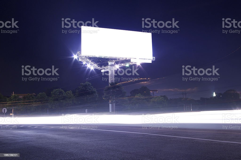 Cars and billboards royalty-free stock photo