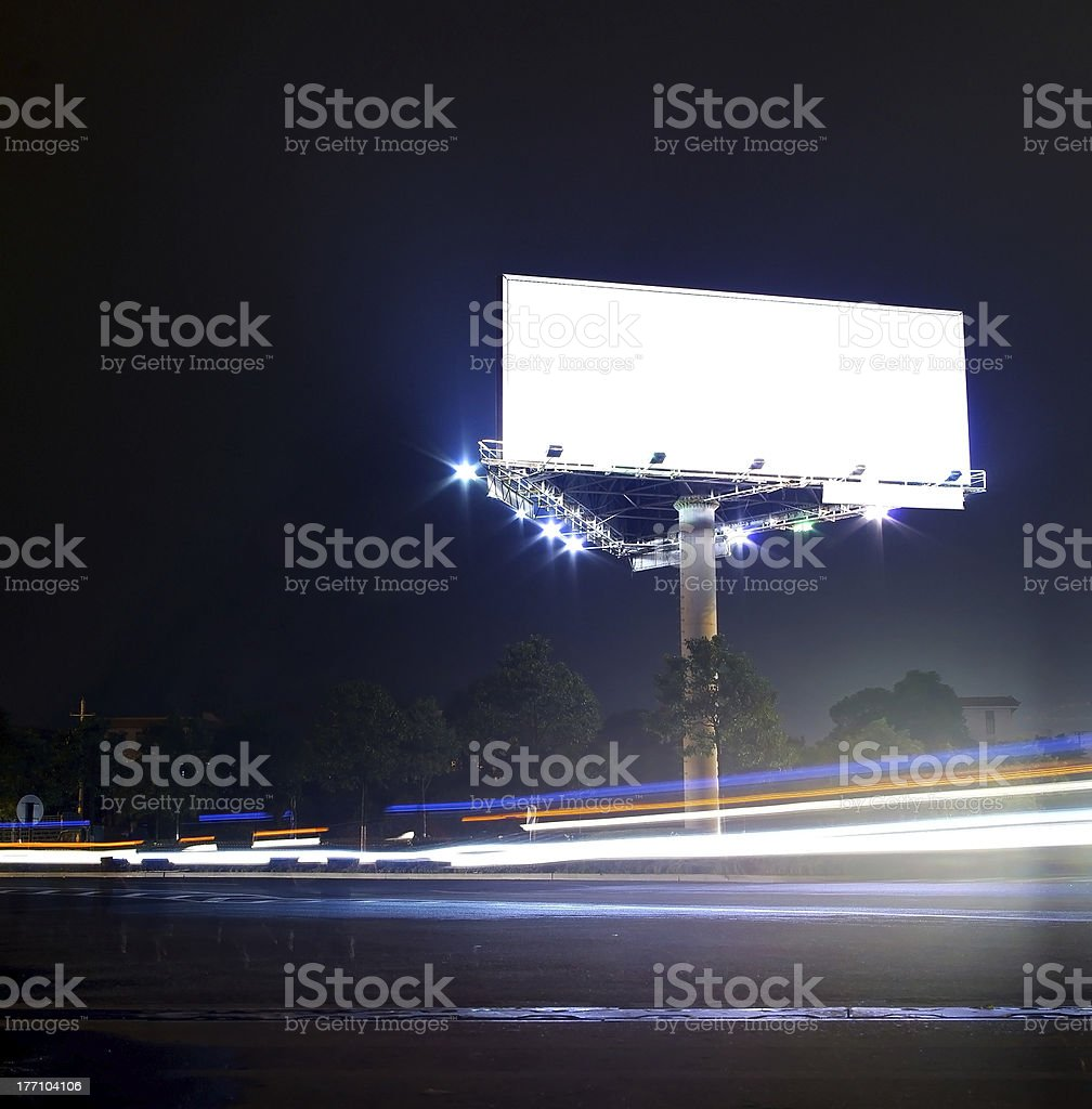 Cars and billboards stock photo