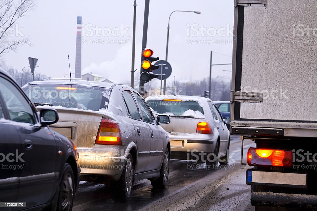Cars and winter royalty-free stock photo