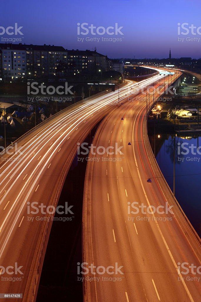 cars at night royalty-free stock photo