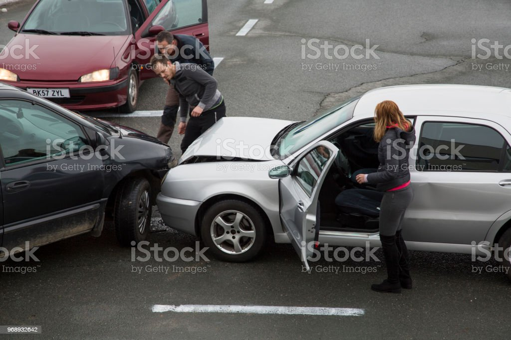 Cars collision stock photo
