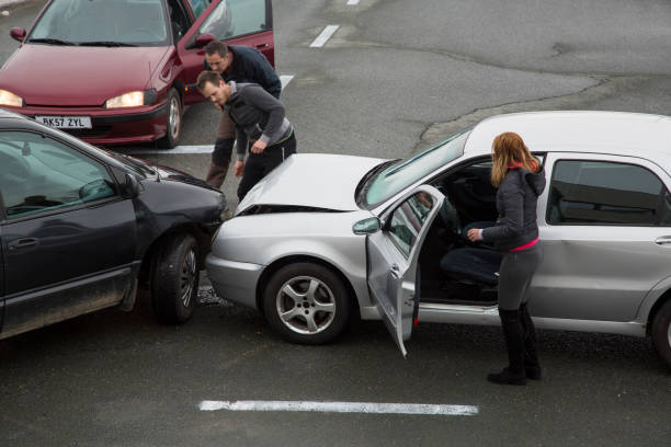 cars collision - car accident stock photos and pictures