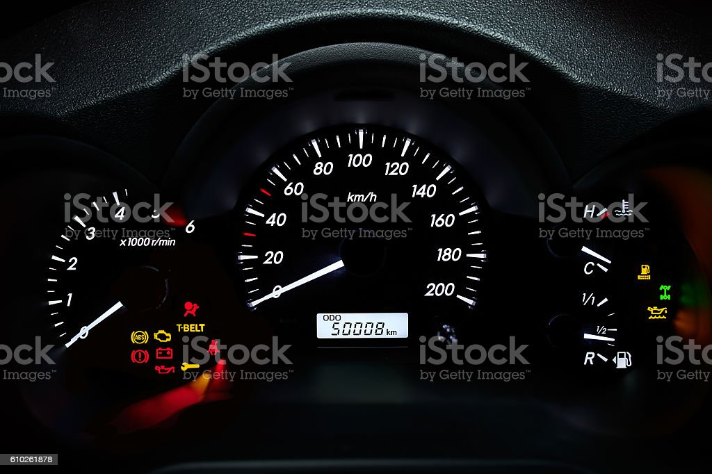 Car's dashboard stock photo