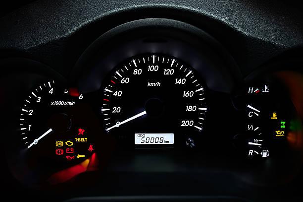 Car's dashboard stock photo