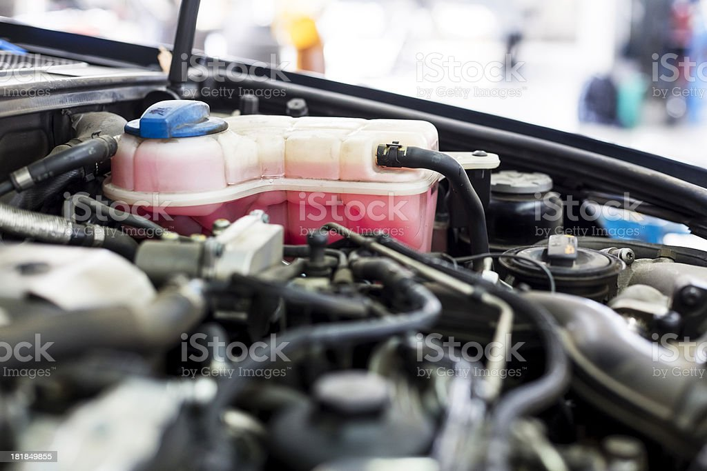 Car's engine stock photo