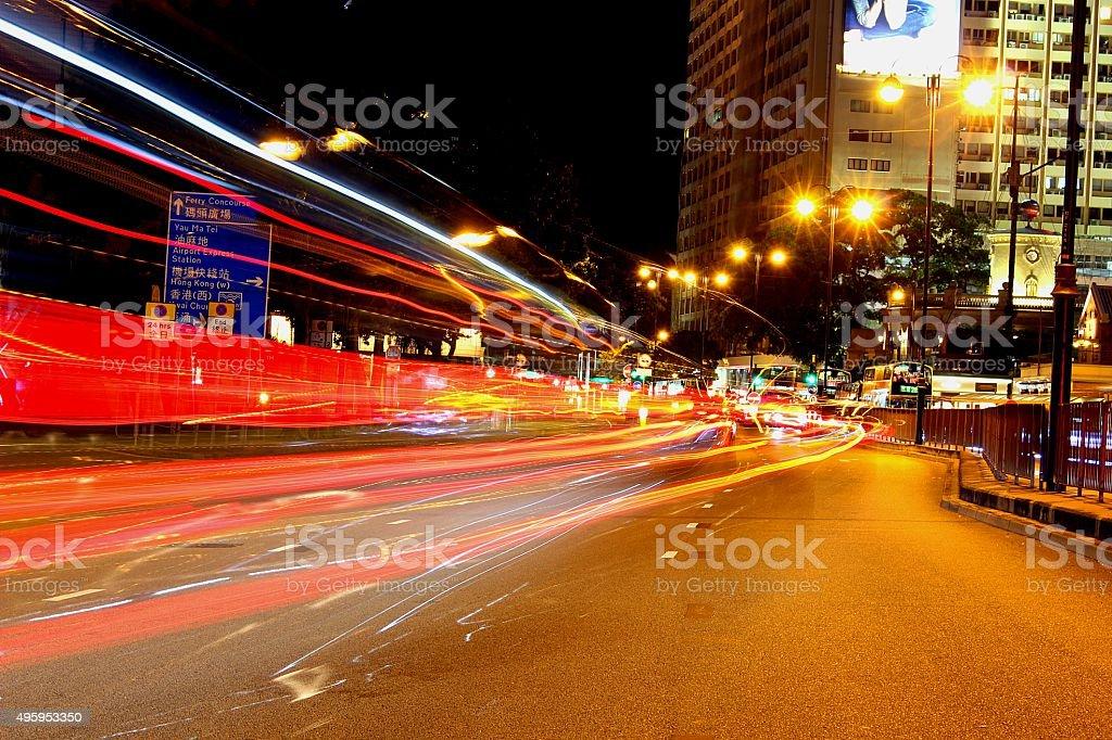 Cars' headlight stock photo