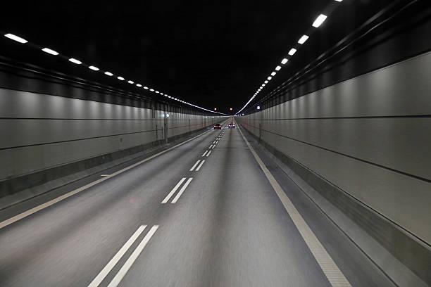 Cars in a tunnel on Oresund bridge between Sweden – Foto