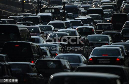 The huge number of cars in the city creates problems for people