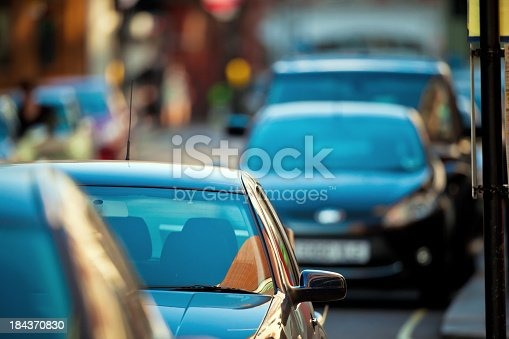 Cars in the streets of London
