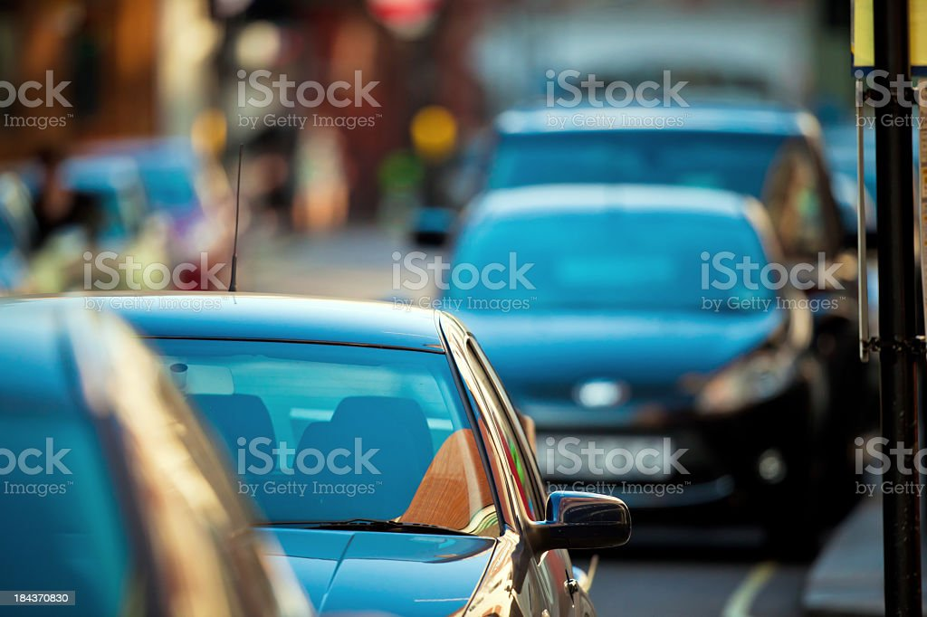 Cars in the street stock photo