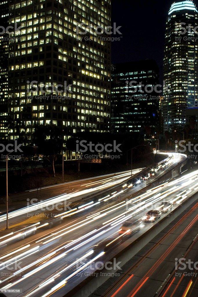 Cars move slow royalty-free stock photo