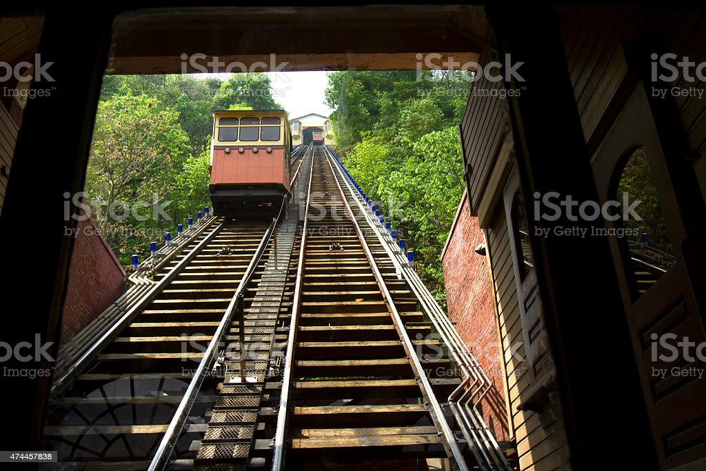Cars on Monongahela Incline stock photo