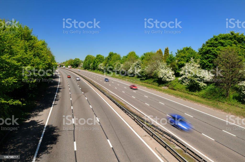 Cars on motorway royalty-free stock photo