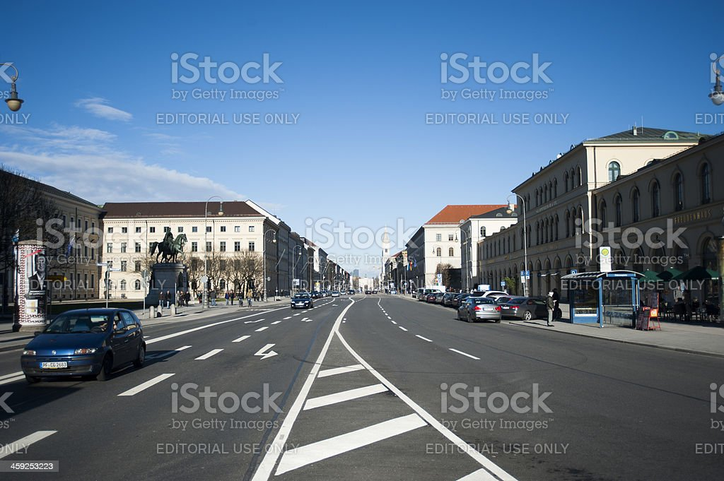 Cars on Munich streets stock photo