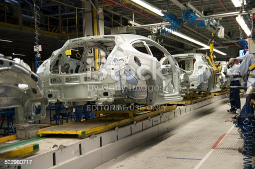 istock Cars on the production line 522960717