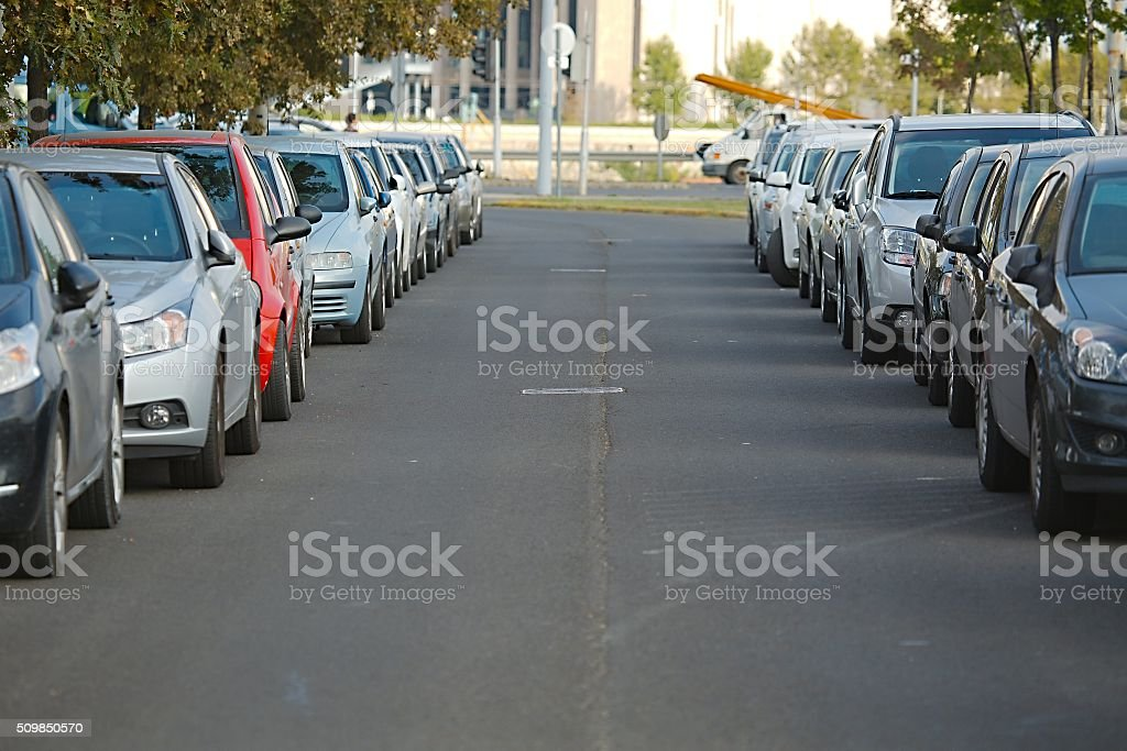 Cars Parked stock photo