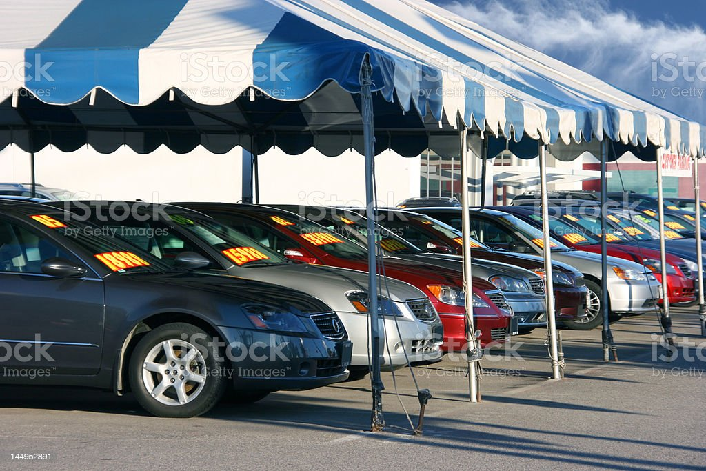 Cars sale stock photo