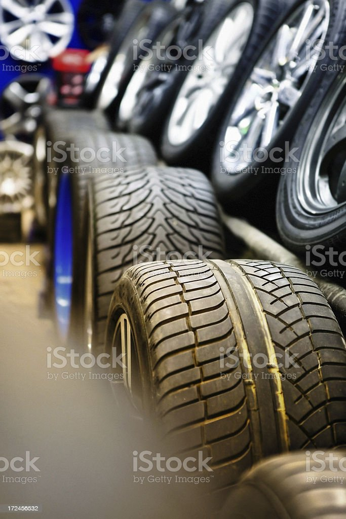 cars tire shop stock photo