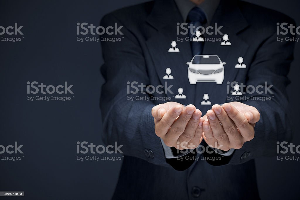 Carsharing concept stock photo