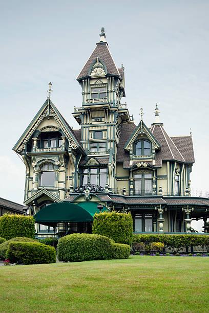 carson mansion - style victorien photos et images de collection