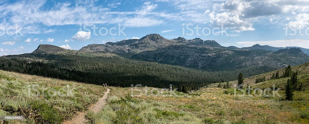 Carson Pass from Pacific Crest Trail stock photo