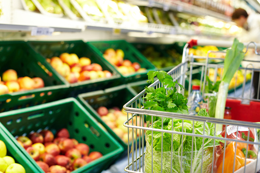 Cart With Products Stock Photo - Download Image Now