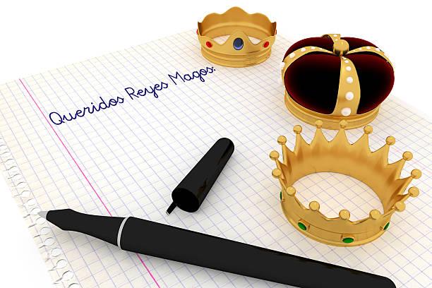 carta a los reyes magos - reis magos imagens e fotografias de stock