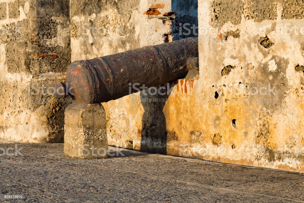 Cartagena Cannon stock photo