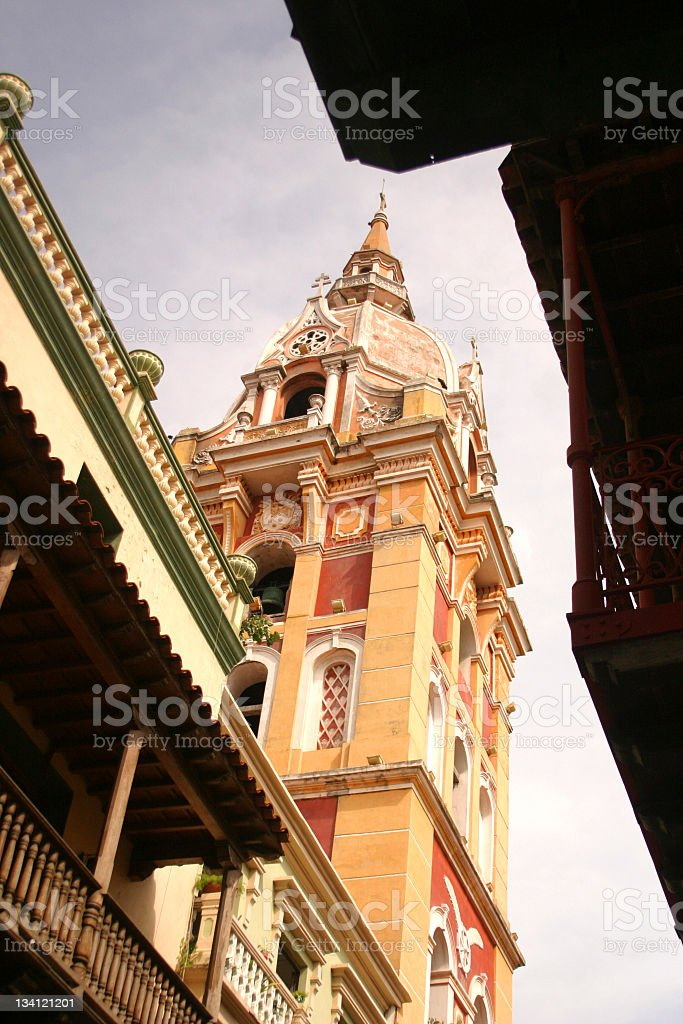 Cartagena Cathedral stock photo