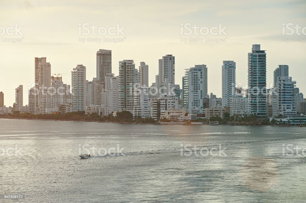 Cartagena cityscape view stock photo