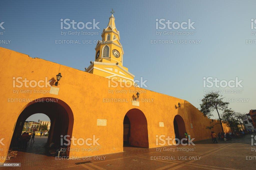 Cartagena Clock stock photo