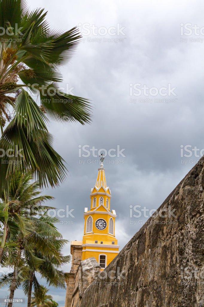 Cartagena Clocktower stock photo