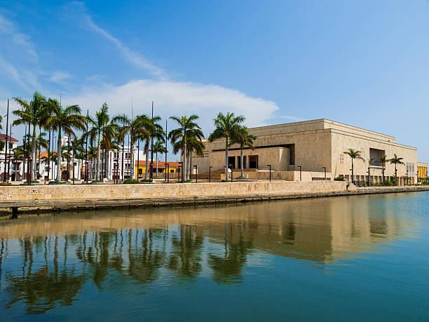 cartagena, colombia, muelle de los pegasos - cartagena museum stock photos and pictures