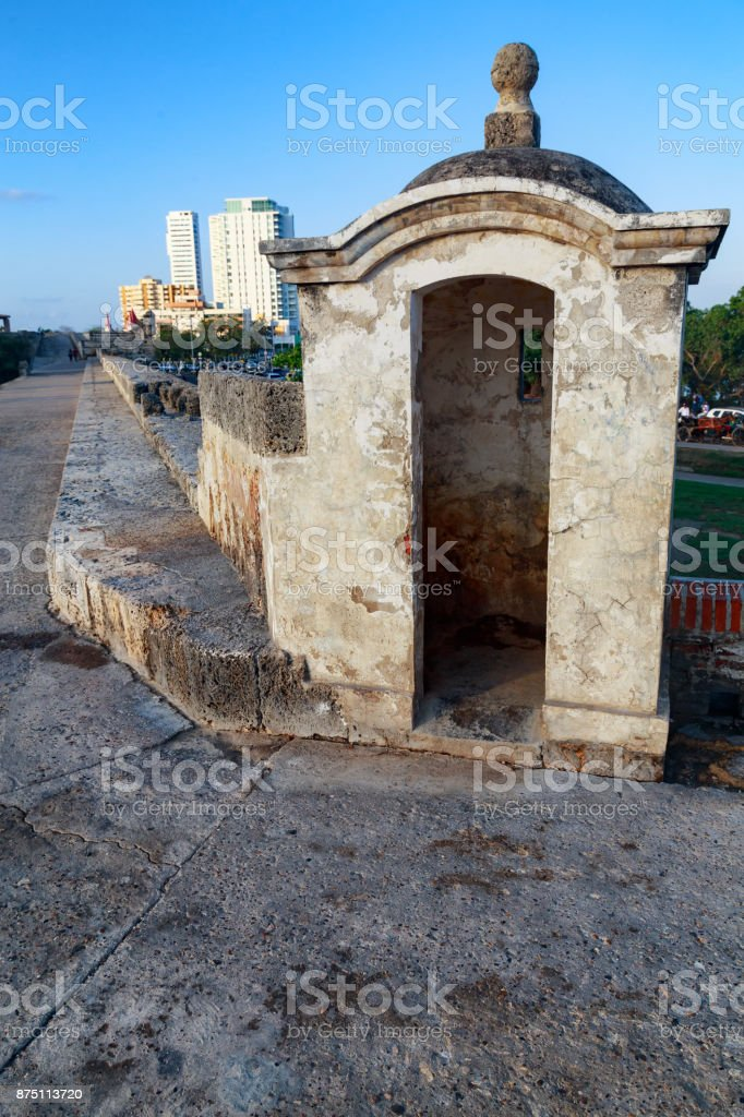 Cartagena colonial Turret stock photo