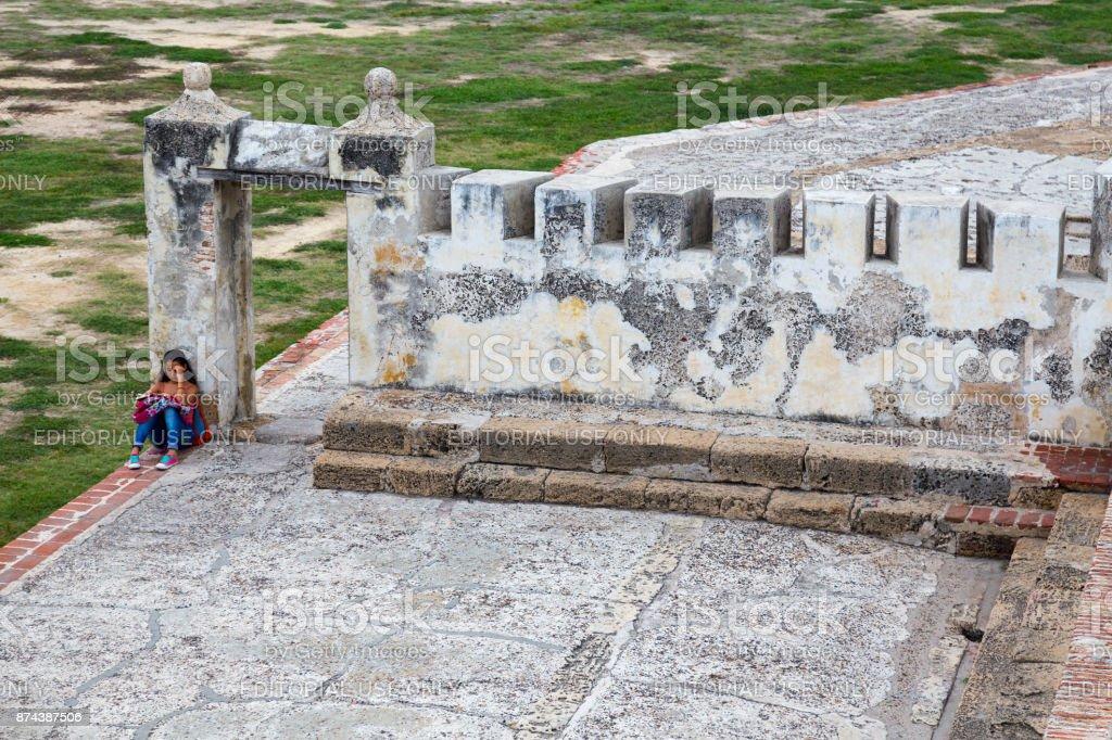 Cartagena Colonial Wall stock photo