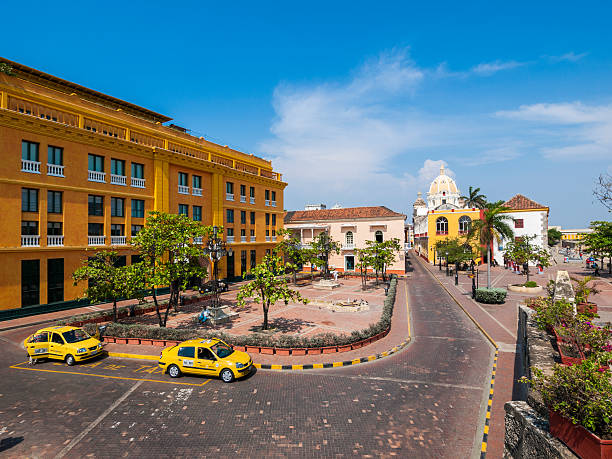 cartagena colourful streets, colombia - cartagena museum stock photos and pictures