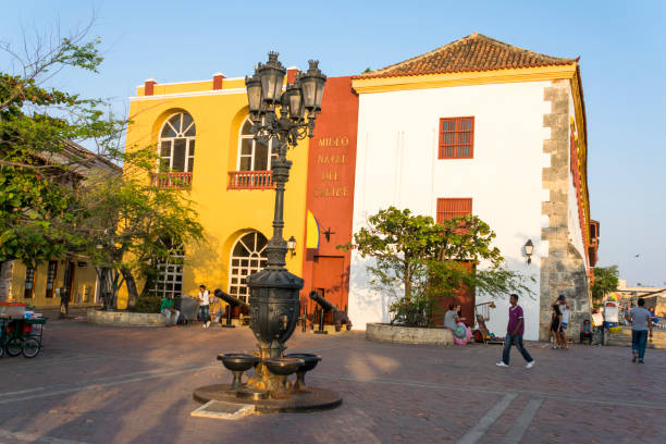 cartagena is the fifth largest city in colombia, the administrative center of the department of bolivar. museum naval. - cartagena museum stock photos and pictures