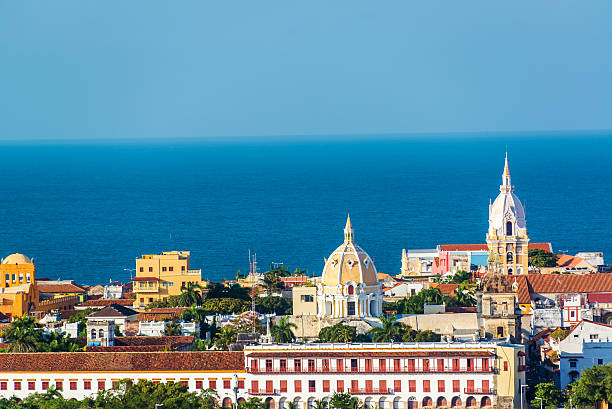 cartagena old town - colombia stock photos and pictures